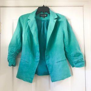 Turquoise Summer Blazer